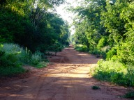 Typical sandy road to Massangene, Mozambique