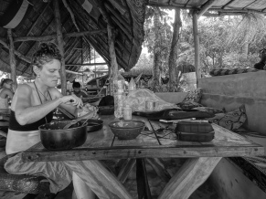 Cooking at the Baobab backpackers