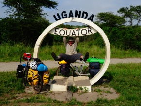 Crossing the Equator in Uganda
