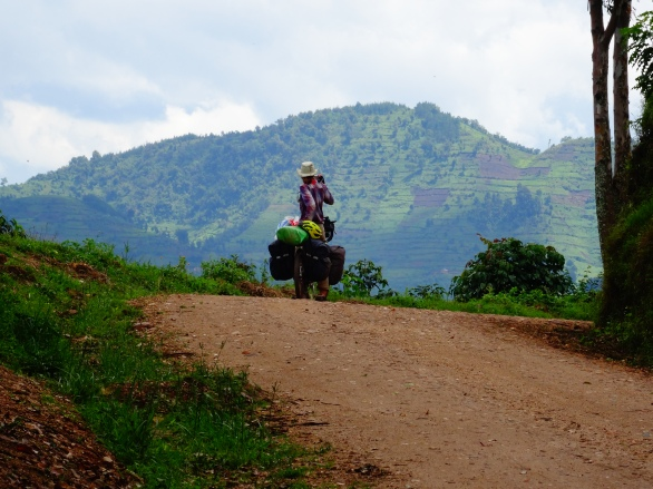Exiting Bwindi National Park, Uganda