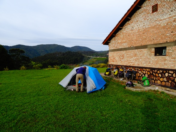 Beautiful campsite outside Nyungwe National Park