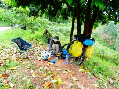 First lunch in Burundi