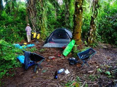 Our campsite in the jungle along Tanganyika Lake, Burundi