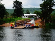 Crossing Malagarasi river on a Dutch ferry, Tanzania