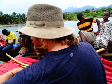 Going from Lagosa to Ikola on a passenger boat, Tanzania