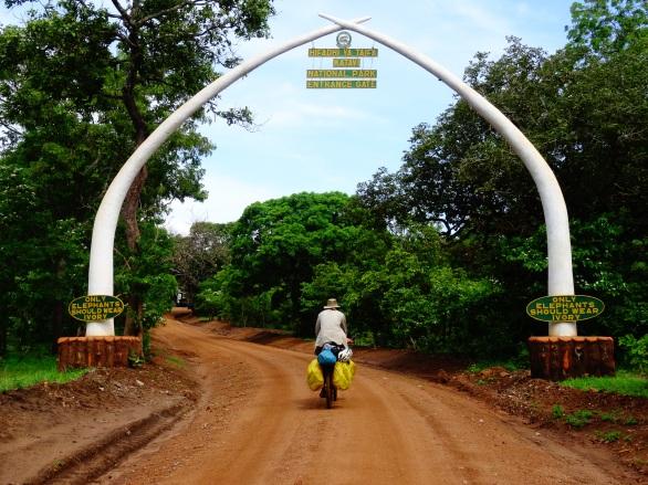 Katavi National Park's gate after Sitalike, Tanzania