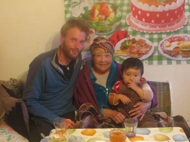 Beautiful helpul and generous Kirghiz people