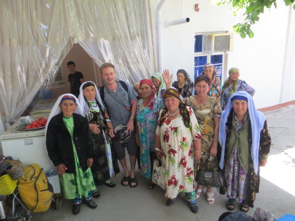 JP with happy Uzbek ladies