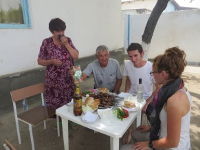 Staying with a family in Muborak, Uzbekistan