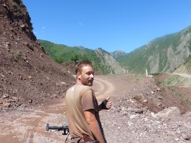 Following the M41 to Khorog after Dushanbe, Tajikistan