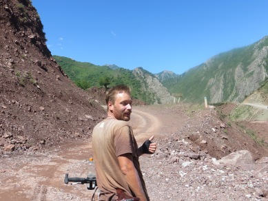 Following the M41 to Khorog after Dushanbe, Tajikistan