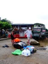 Preparing our stuff, El Castillo, Nicaragua