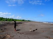 Carribean beach in San Juan del Norte, Nicaragua