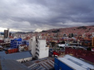 La Paz from our hostel