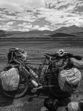 Frosted bikes, Coipasa, Bolivia