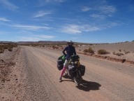 Day 2. That crazy sandy flat road from Sullchi to San Vincente, Bolivia