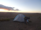 Day 2. Our very exposed camping site on Abra San Vincente, Bolivia