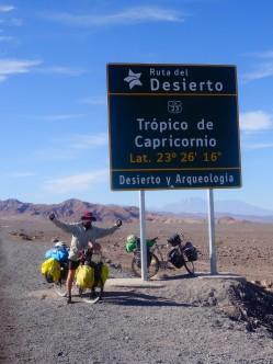 Crossing Capricorn Tropics in Chile, February 2016