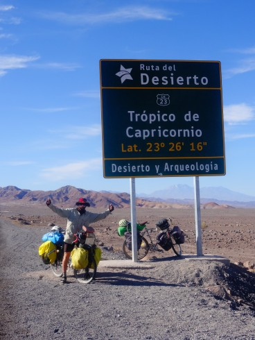 Crossing Capricorn Tropics in Chile, February 2016