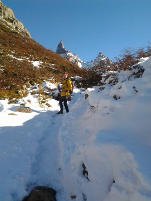Frey hike in the snow, Argentina