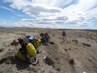 Cycling in the Pampas, Road 40, Argentina