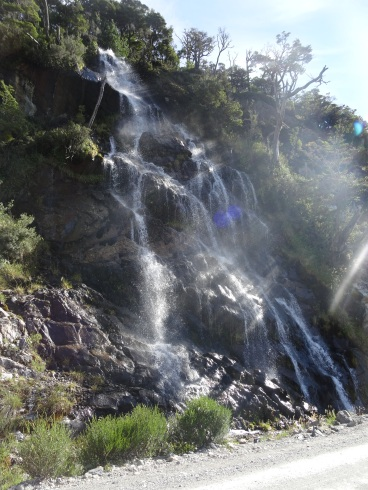 One of the numerous waterfalls on the way, Chile