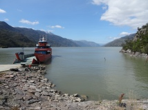 Ferry of Puerto Yungay, Chile