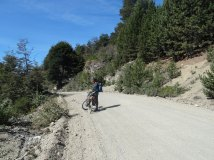 Didier and his bikepacking set-up, Chile