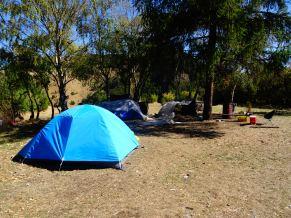 Camping at Piedra del Indio in Coyhaique, Chile