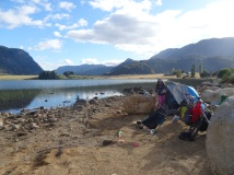 Camping in Manuales, Chile