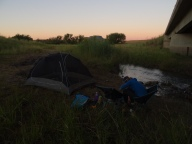 Camping along the road, Free State, SA