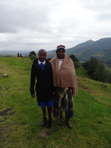A student and her mom, Lesotho