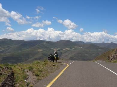 Checking our route, Lesotho