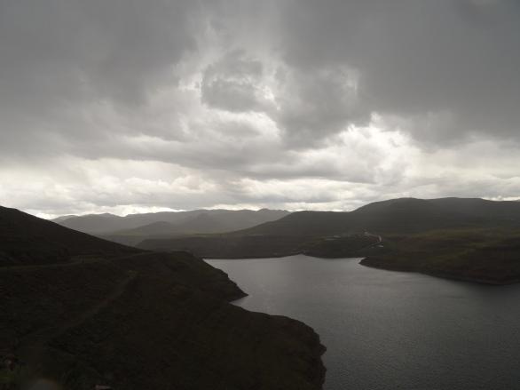 The Orange river on the Thaba-Tseka/Linakeng road, Lesotho