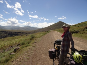 Happy dirt riding, Lesotho
