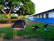 Sleeping in a school in Swaziland