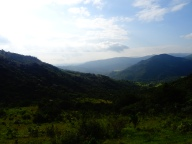 View on Swazi mountains
