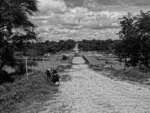 Broken bridge on our way, Zimbabwe